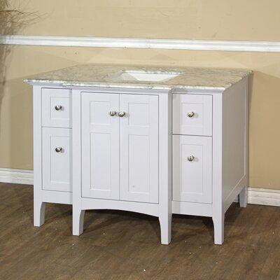 """44"""" Single Bathroom Vanity Base Finish: White"""