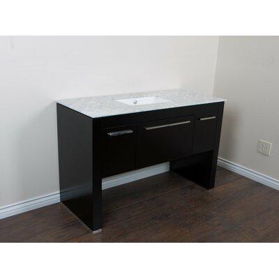 """55"""" Single Bathroom Vanity Set Base Finish: Black/White"""