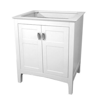 """29"""" Single Bathroom Vanity Base Finish: White"""
