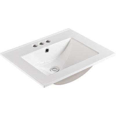 "Ceramic 24"" Single Bathroom Vanity Top"