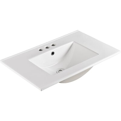 "Ceramic 30"" Single Bathroom Vanity Top"