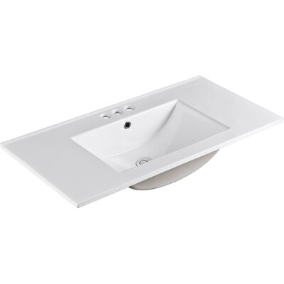 "Ceramic 36"" Single Bathroom Vanity Top"
