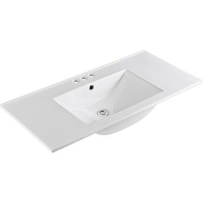 "Ceramic 48"" Single Bathroom Vanity Top"