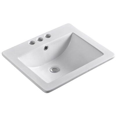 "Ceramic 21"" Single Bathroom Vanity Top"