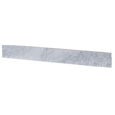 "4"" x 30"" Marble Backsplash Tile in White"