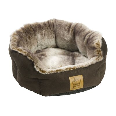 House of Paws Arctic Fox Snuggle Pet Bed in Brown and Grey