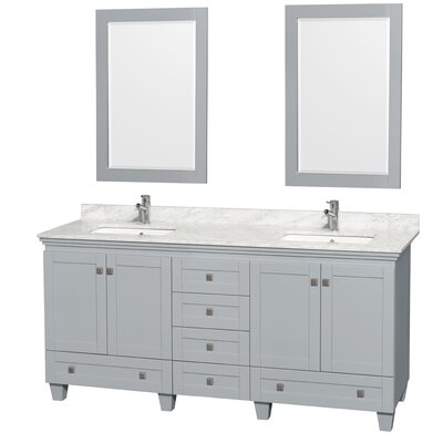 "Acclaim 72"" Double Bathroom Vanity Set with Mirror"