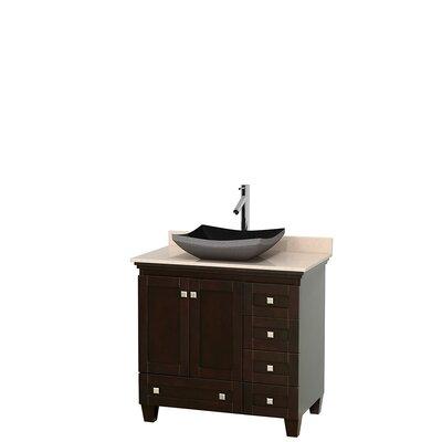 """Acclaim 36"""" Single Bathroom Vanity Set Top Finish: Ivory, Base Finish: Espresso"""