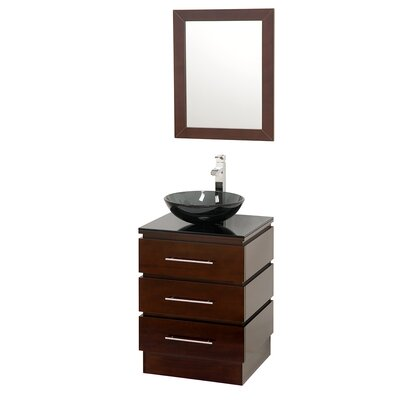 "Wyndham Collection Rioni 22"" Single Bathroom Vanity Set with Mirror"