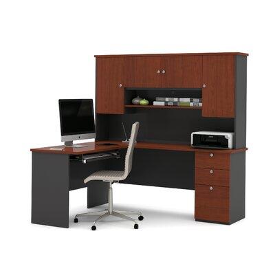 Independence 3 Piece L-Shape Desk Office Suite Color: Bordeaux/Graphite