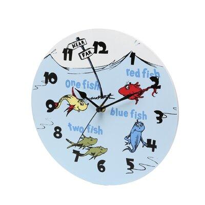 """Trend Lab Dr. Seuss 1 Fish 2 Fish 11"""" Wall Clock"""