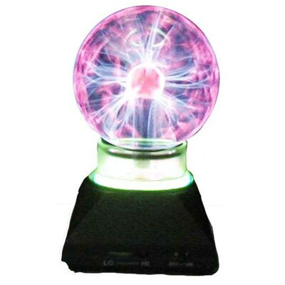 "Creative Motion Plasma Ball 7.25"" H Table Lamp with Sphere Shade"