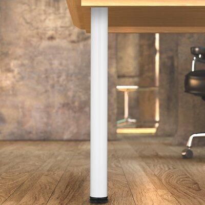 Adjustable Table Leg Finish: White