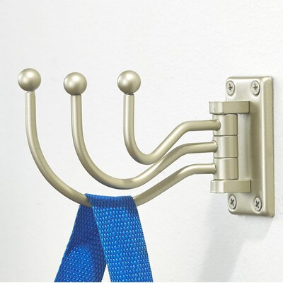 Utility Swivel Wall Hook Finish: Matte Nickel