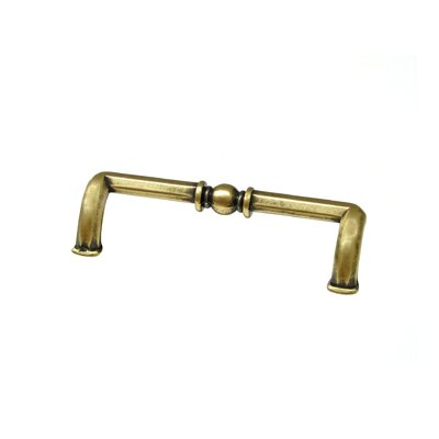"3 7/9"" Center Bar Pull Finish: Floral Brass"