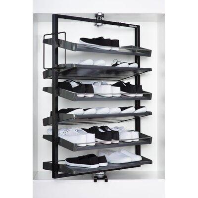 24 Pair Revolving Shoe Rack