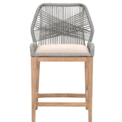 "Kiley 26"" Bar Stool Upholstery: Platinum"