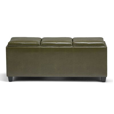 Avalon Rectangular Storage Bench Color: Deep Olive Green