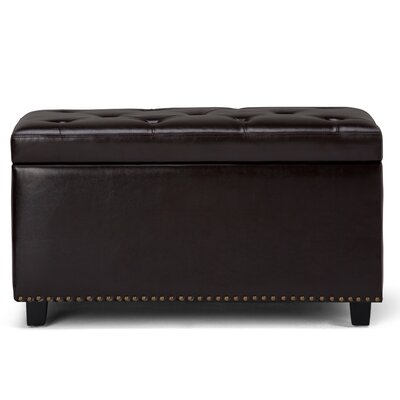 Hannah Faux Leather Storage Bench Upholstery: Tanners Brown