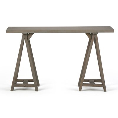 "Sawhorse Console Table Color: Distressed Gray, Size: 29.5"" H x 50"" W x 16.5"" D"