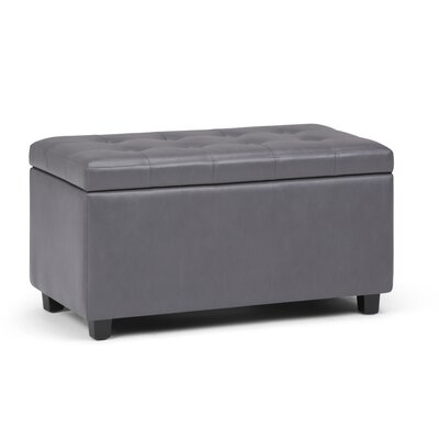 Cosmopolitan Medium Storage Bench Upholstery: Stone Gray