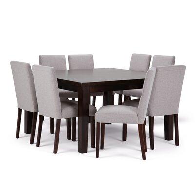 Ashford 9 Piece Dining Set Chair Color: Cloud Grey