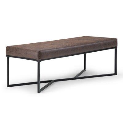Logan Faux Leather Bench