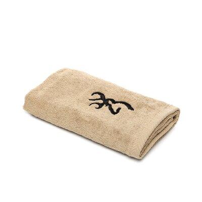 Buckmark Hand Towel Color: Brown / Tan