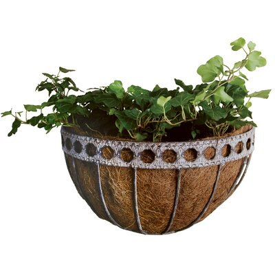 Fallen Fruits Aged Metal Half Round Wall Mounted Planter