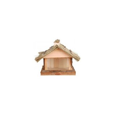 Fallen Fruits Wall Birdtable with Thatched Roof