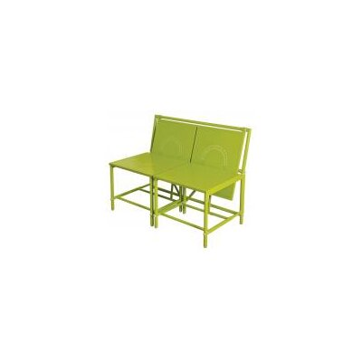 Fallen Fruits Magic 2 Seater Steel and Polywood Bench