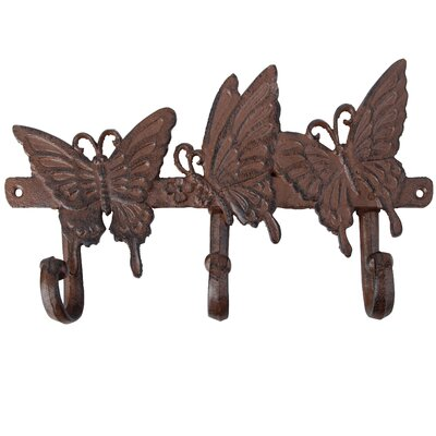 Fallen Fruits Butterfly Wall Mounted Coat Rack with 3 Hook