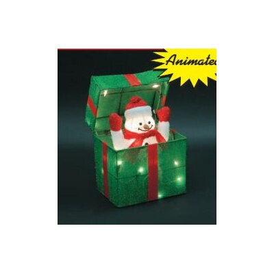 Animated snowman gift box christmas decoration wayfair for Animated snowman decoration