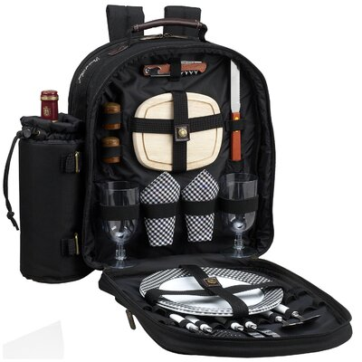 Picnic At Ascot Classic Picnic Backpack with Two Place Settings
