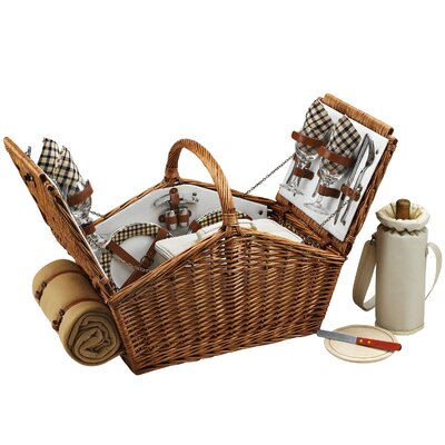 Picnic At Ascot Huntsman Basket for Four with Blanket in London
