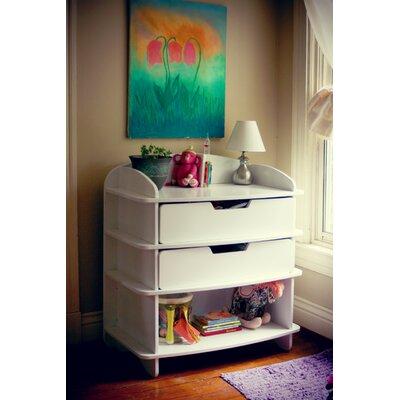 Aero Changing Dresser Color: White