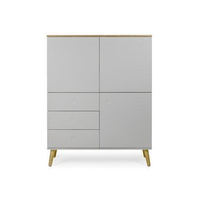 Dot Cabinet Color: Gray / Oak
