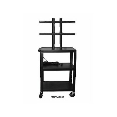 Vutec Flat Panel AV Cart with 4 Outlets