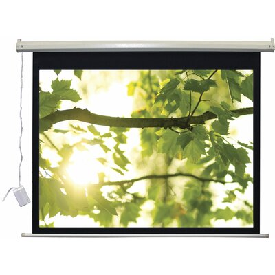 """Lectro IR QM """"A Series"""" Matte Black Electric Projection Screen Viewing Area: 54"""" H x 96"""" W"""