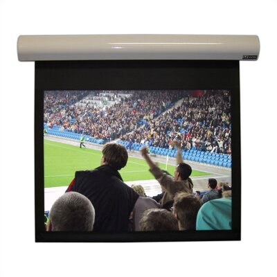 "Lectric I Matte Black Electric Projection Screen Low Voltage Motor Viewing Area: 138"" diagonal"