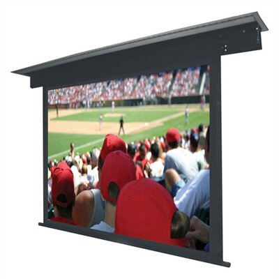"""Lectric II Matte Black Electric Projection Screen Low Voltage Motor Viewing Area: 133"""" diagonal"""