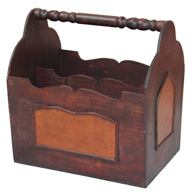 Barnard Handcrafted Decorative Wooden Magazine Rack