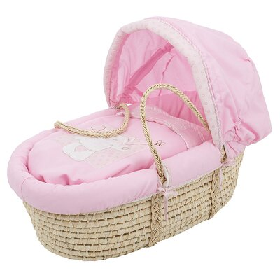 Obaby B is for Bear Moses Basket in Pink