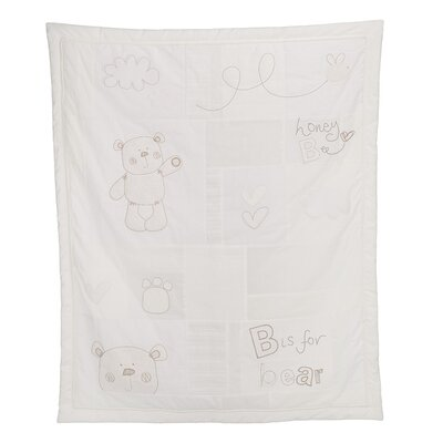 Obaby B is for Bear 2 Piece Quilt and Bumper Set in White