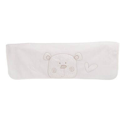Obaby B is for Bear Fleece Blanket in White