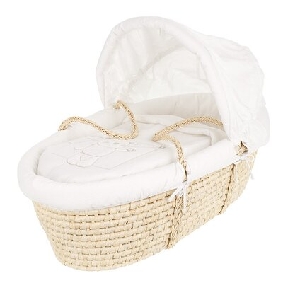 Obaby B is for Bear Moses Basket in White