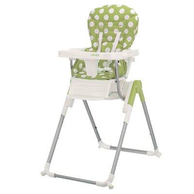 Obaby Nanofold Highchair in Dotty Lime