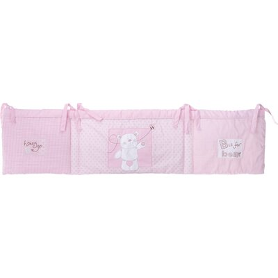Obaby B is for Bear Quilt and Bumper in Pink (2 Piece Set)