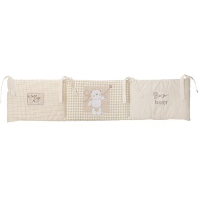 Obaby B is for Bear Crib Quilt and Bumper in Cream (2 Piece Set)