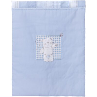 Obaby B is for Bear Crib Quilt and Bumper in Blue (2 Piece Set)